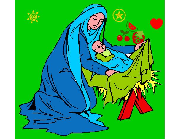 Dibujo de el pesebre del niño dios pintado por Annipaola en ...