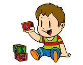 Dibujo Niño con piezas pintado por lukittty