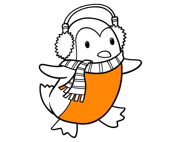 Dibujo de Pingüino con bufanda pintado por Jireh en Dibujos.net el ...