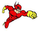Dibujo Superhéroe sin capa pintado por fcbj