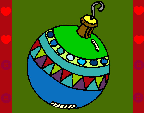 Dibujo de mi esfera para navidad pintado por giovana815 for Dibujo bola navidad
