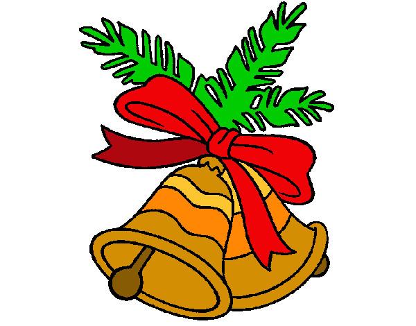 dibujos de campanas de navidad para colorear - Campanas Navideas