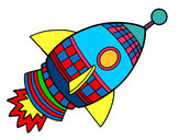 Dibujo Cohete espacial pintado por POL_B