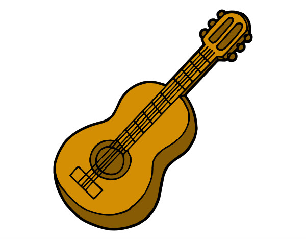 Dibujo de Guitarra acústica pintado por Viktorenge en Dibujos.net el ...