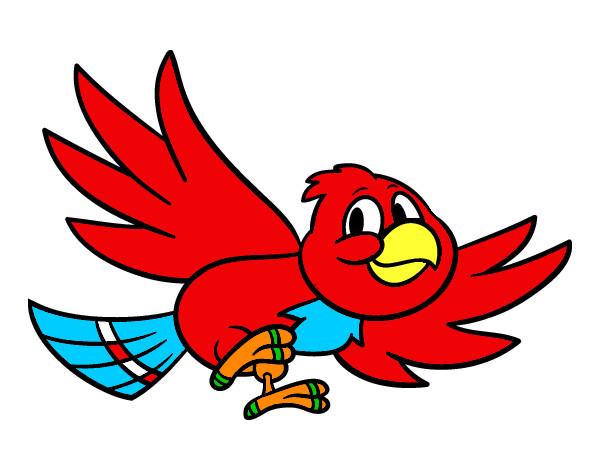 Dibujo de Pjaro rojo pintado por Obelisk57 en Dibujosnet el da