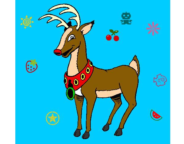 Dibujo de navidad pintado por donny en el d a for Dibujos de renos en navidad