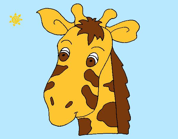 Dibujo de Cara de jirafa pintado por Danneliese en Dibujosnet el