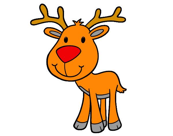 Dibujo de reno pintado por millaray7 en el d a for Dibujos de renos en navidad