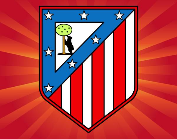 dibujo de escudo del club atl tico de madrid pintado por