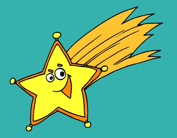 Dibujo de estrella pintado por maria31 en el for Estrella fugaz navidad