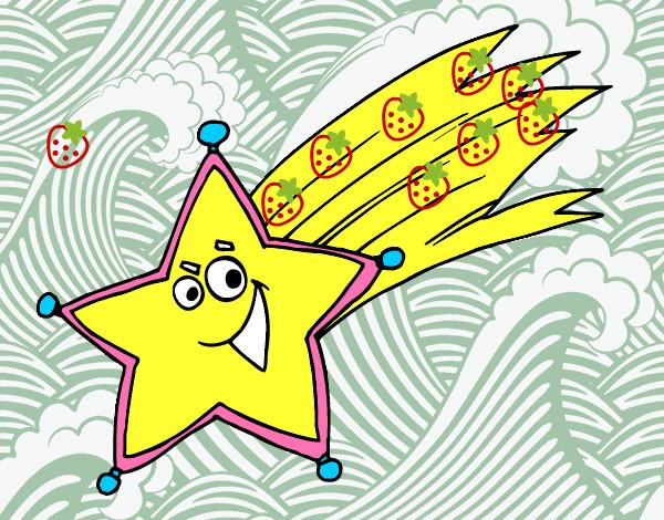 Dibujo de la estrella fugaz pintado por yalits en dibujos for Estrella fugaz navidad
