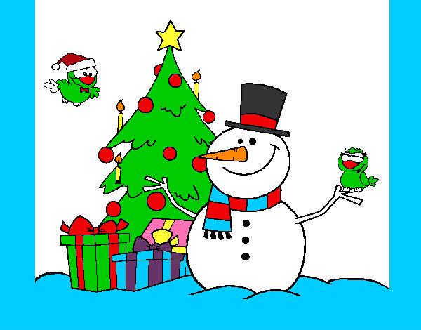 Dibujo de milagro de navidad pintado por dertinor en - Dibujos navidad en color ...