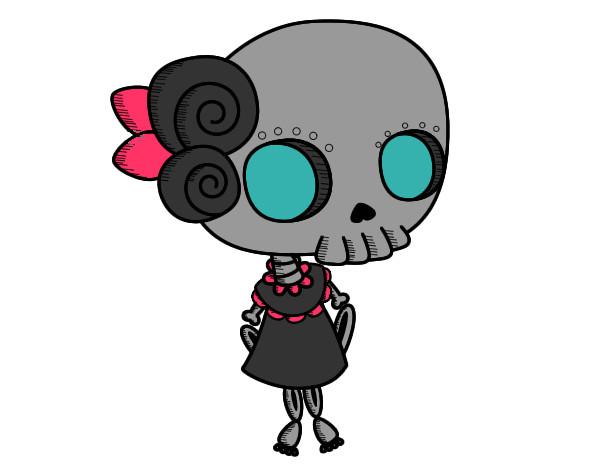 Dibujo de Mi nia cadaver pintado por Minisnook en Dibujosnet el