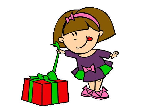 Niño Abriendo Un Regalo Dibujos Para Pintar: Dibujo De Feliz Navidad Pintado Por Vilu123 En Dibujos.net