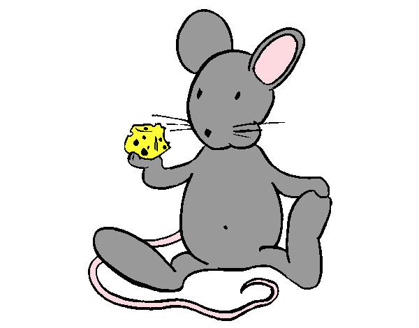 Dibujo De Rata Con Queso Pintado Por Nikaty En Dibujos.net