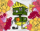 Dibujo Robot con cresta pintado por karinovi