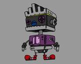 Dibujo Robot con cresta pintado por RosaBast