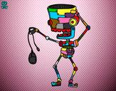 Dibujo Robot con un ratón pintado por tiacoyo