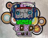 Dibujo Robot music pintado por EthanLuz