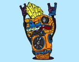 Dibujo Robot Rock and roll pintado por javier2001