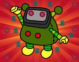 Dibujo Robot saludando pintado por Ricky-tron