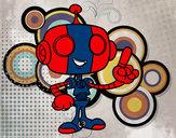 Dibujo Robot simpático pintado por snyder