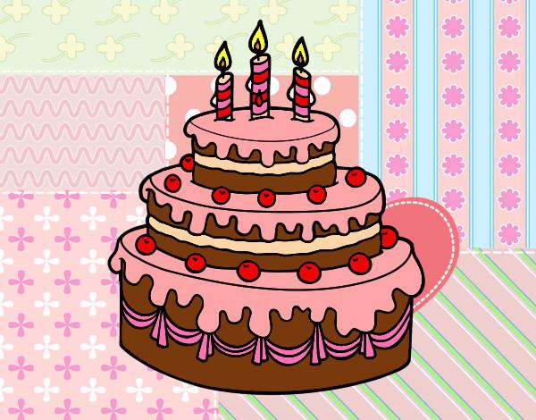 Dibujo de Tarta de cumpleaños pintado por Pichifranc en ...