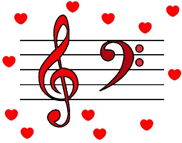 Dibujo de letras musicales pintado por Raquel57 en Dibujosnet el