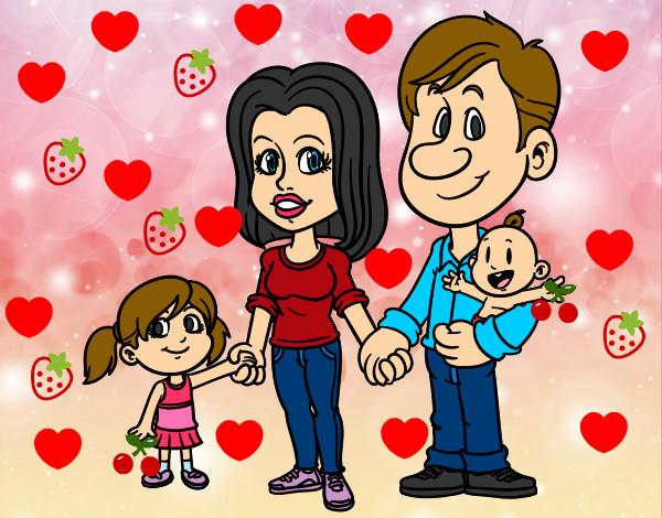 Dibujo de familia pintado por Bibymendez en Dibujosnet el da 12