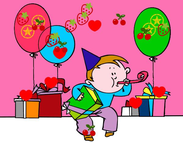 Dibujo de la fiesta pintado por matik en el - Bombas de cumpleanos ...