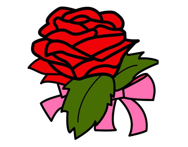 Dibujo de rosa d color rojo pintado por Salma59522 en Dibujos.net ...