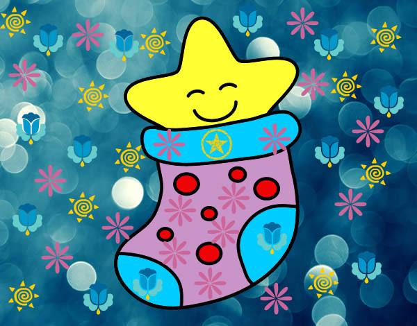 Dibujos De Navidad En Color: Dibujo De La Estrella Hermosa Pintado Por Samyta En