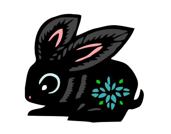 Dibujo de conejo pintado por Kaikozatsu en Dibujos.net el día 15 ...