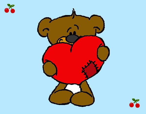 Dibujo de oso amorosso pintado por Neni222 en Dibujosnet el da