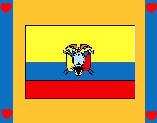 """Dibujo de bandera del """"ECUADOR""""!!!!....... pintado por Jessey en ..."""
