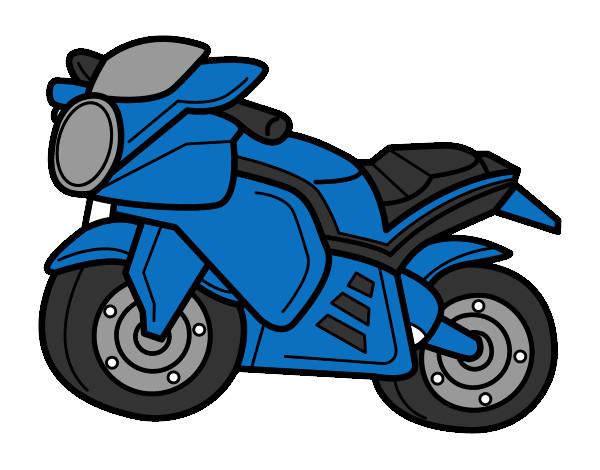 Dibujo de moto pintado por Duvas en Dibujosnet el da 240113 a