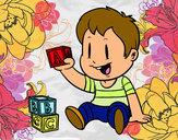 Dibujo Niño con piezas pintado por Andreitapf