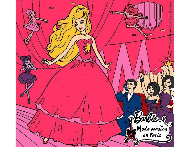 Dibujo de barbie moda magica en paris pintado por Lesliemoda en