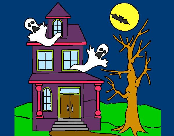 Dibujo de la casa del horror pintado por morenitas en el d a 02 02 13 a las 05 13 19 - Fotos de casas para dibujar ...