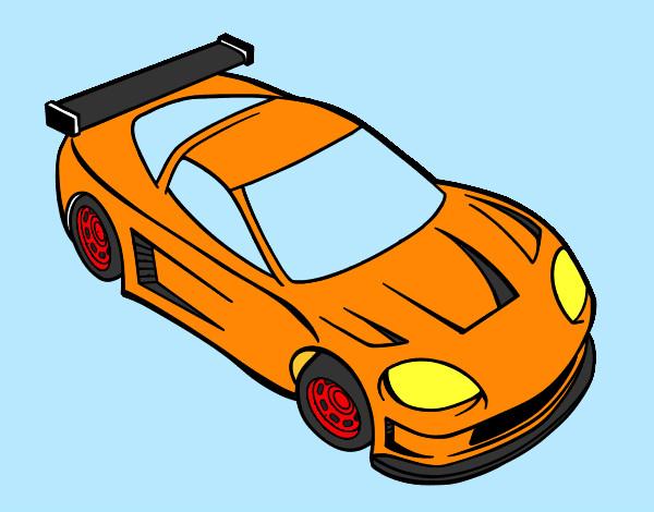 Dibujo de Super coche pintado por Vampiro en Dibujosnet el da