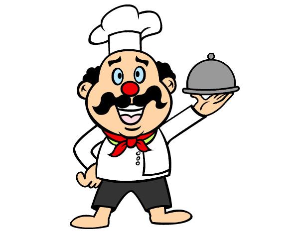 Dibujo de cocinero italiano pintado por vicu en dibujos for Herramientas de un cocinero