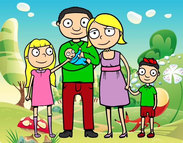 Dibujo de LA FAMILIA pintado por Icia6 en Dibujosnet el da 3101