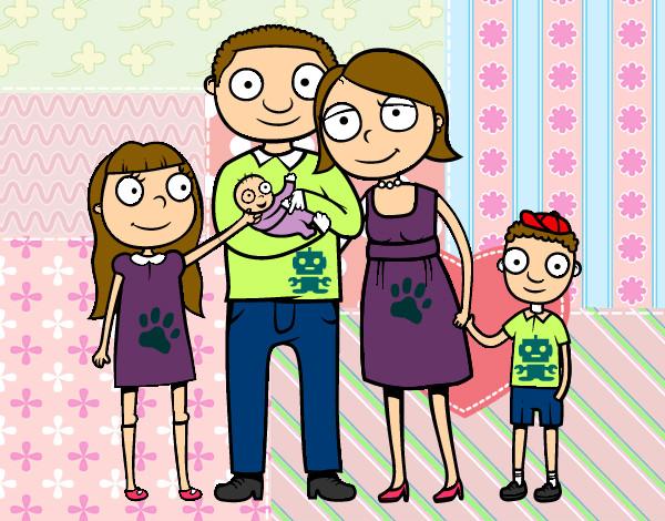 Dibujo de mi linda y hermosa familia - 144.4KB