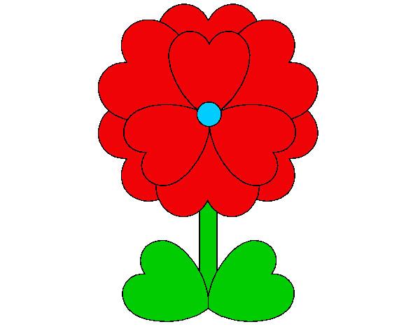 dibujo de flor hermosa pintado por anapola en dibujos net el día 31