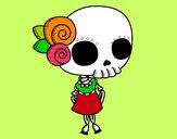 Dibujo Niña cadaver pintado por mixi123456