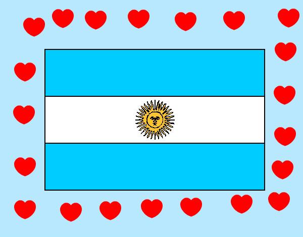 Dibujo de argentina!!!! pintado por Lesliemoda en Dibujos.net el día
