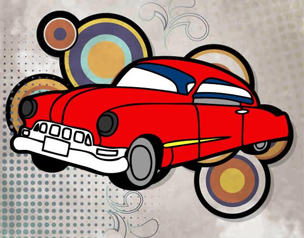 Dibujo de carro rojo pintado por Cheis en Dibujosnet el da 0702