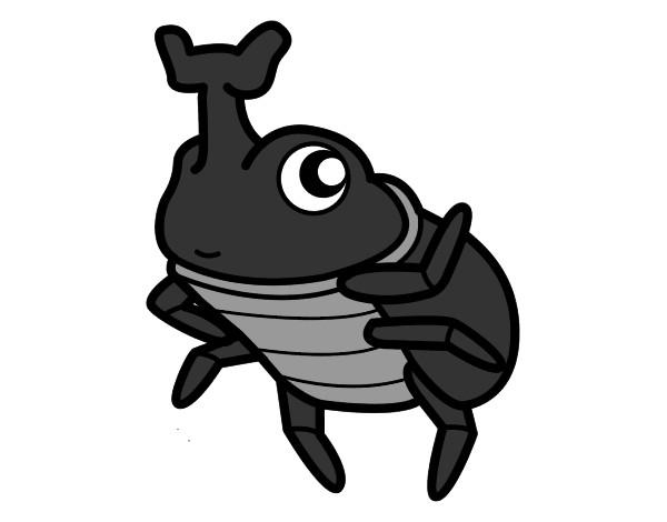 Dibujo de Escarabajo rinoceronte pintado por Spaida en Dibujos.net ...