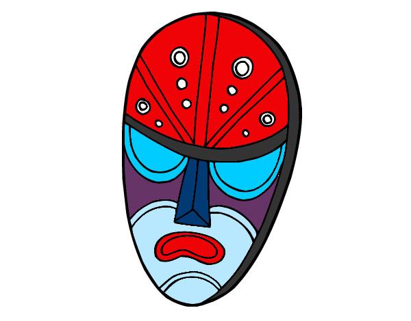 una   mascara    enojada