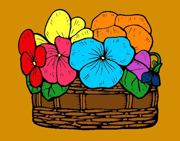 Dibujo de pensamientos de colores pintado por Selenita11 en